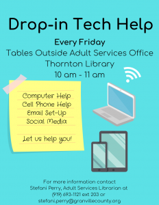 Drop-in Tech Help - Thornton @ Thornton Library