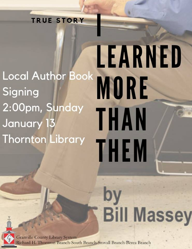 Book Signing- Bill Massey @ Thornton Library
