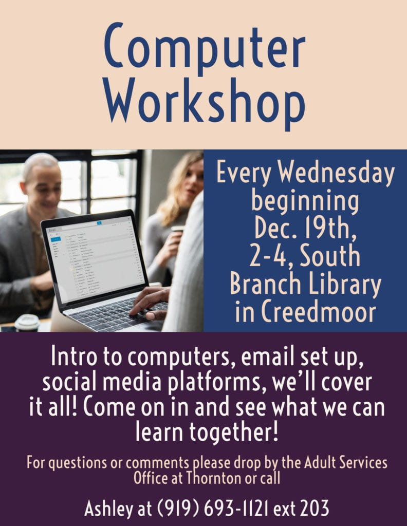 Computer Workshop @ South Branch Library