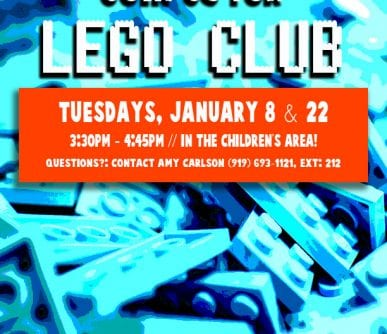 Lego Club Flyer January