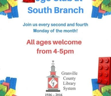 Lego Club at South Branch