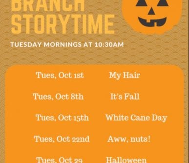South Banch Storytime october 2019
