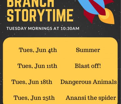South Branch Storytime June 2019