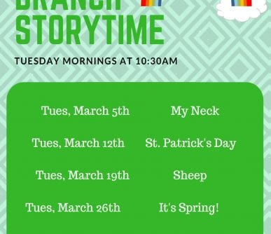 South Storytime March 2019