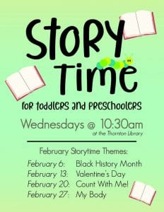 Storytime- Thornton Library @ Richard H. Thornton Library