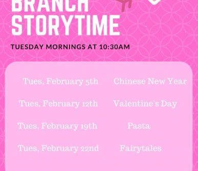 south branch storytime february 2019