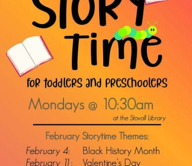 February Story Time Flyer