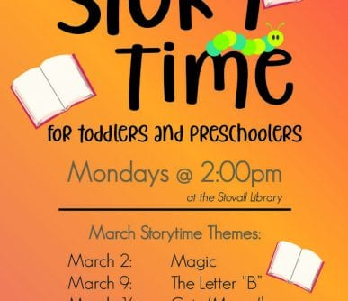 ST Storytime Monthly Flyer (March 2020)