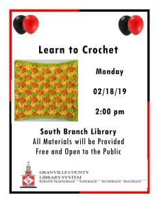 Learn to Crochet-South Branch @ South Branch Library