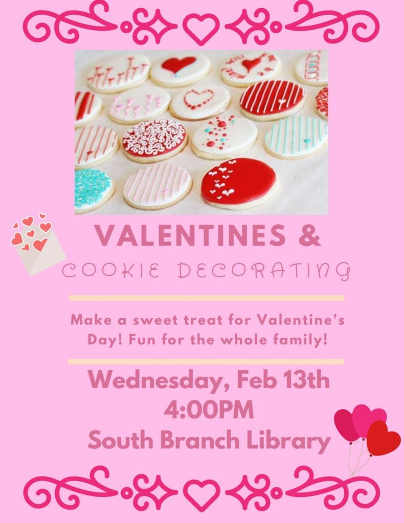 Valentines & Cookie Decorating @ South Branch Library