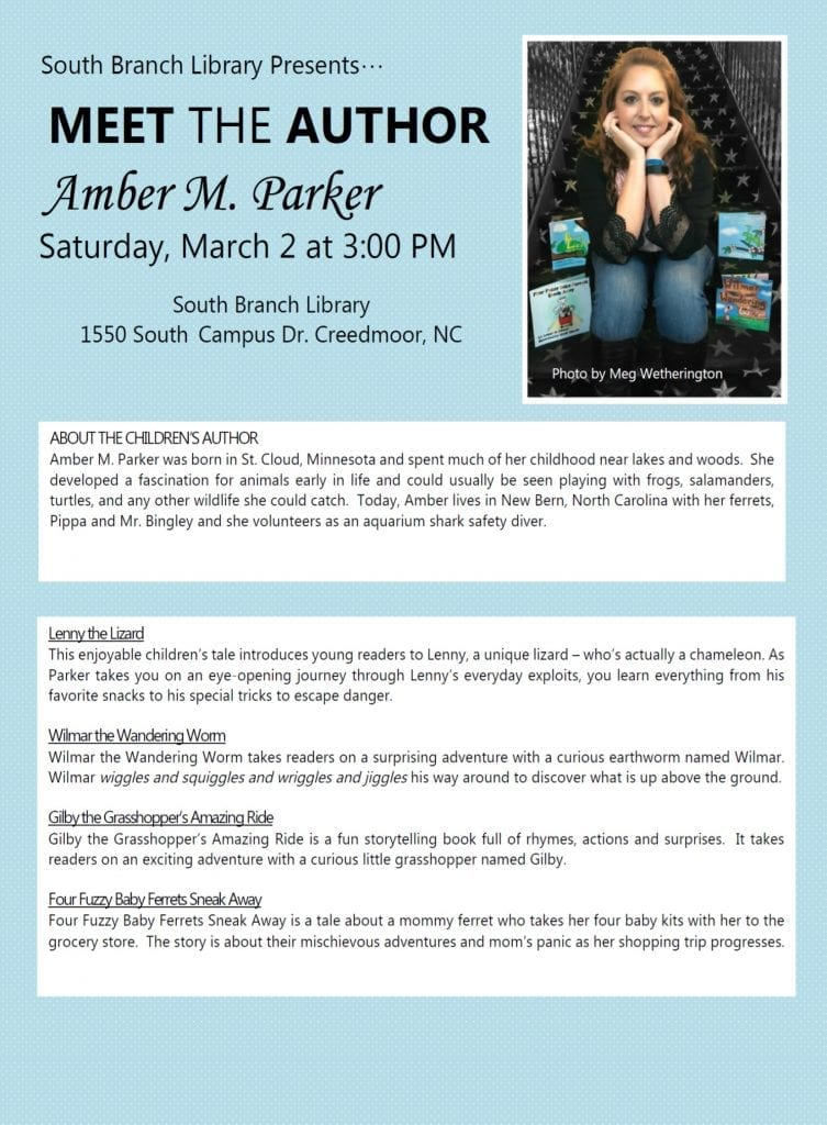 Meet the Author: Amber M Parker @ South Branch Library