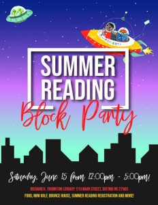 Summer Reading Block Party @ Thornton Library