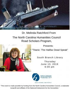 Titanic: The Halifax Dead Speak @ South Branch Library