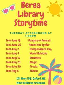 Storytime-Berea Library @ Berea Library