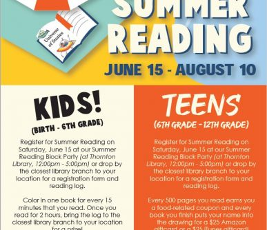 Summer Reading flyer 2019