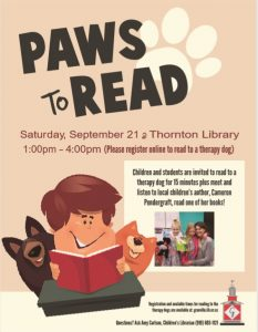 Paws to Read @ Thornton Library