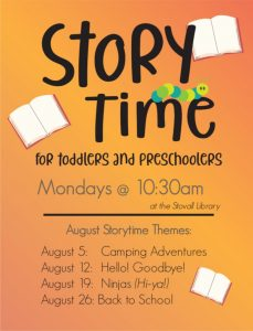 Storytime-Stovall Library @ Stovall Library