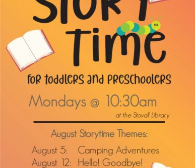 Stovall Storytime August 2019