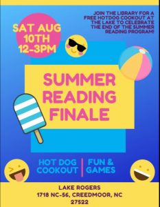 Summer Reading Finale @ Lake Rogers