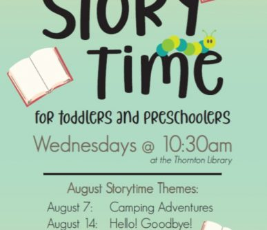 Thornton Storytime August 2019