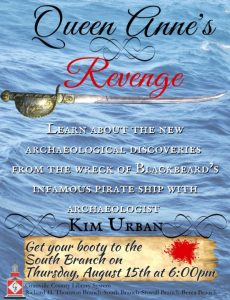 Kim Urban: Queen Anne's Revenge @ South Branch Library