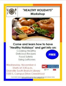 Healthy Holiday Workshop @ South Branch Library
