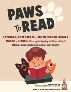 Paws to Read @ South Branch Library