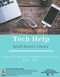 Tech Help @ South Branch Library