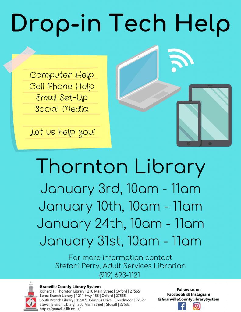 Drop-in Tech Help @ Thornton Library