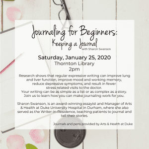 Journaling for Beginners: Keeping a Journal @ Thornton Library