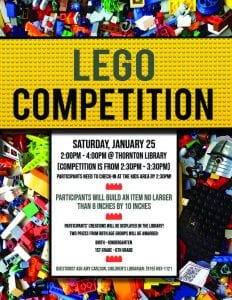Lego Competition @ Thornton Library