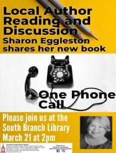 Local Author: Sharon Eggleston @ South Branch Library