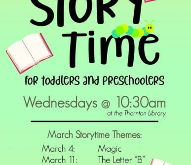 RHT Storytime Monthly Flyer (March 2020)