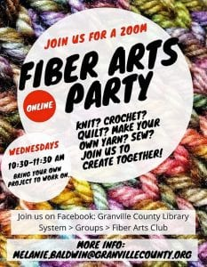 Fiber Arts Party @ GCLS Facebook Page