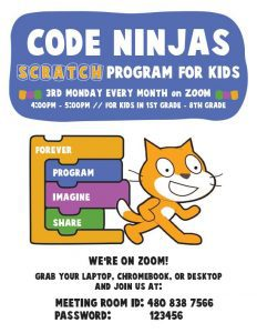 Code Ninjas @ GCLS Facebook Page and Website