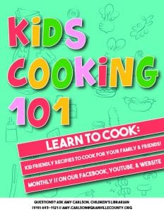 Kids Cooking 101 @ GCLS Facebook Page and Website