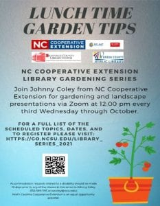 NCCE: Monthly Horticulture Series @ Zoom