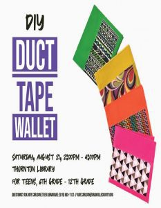 DIY: Duct Tape Wallet @ Richard H. Thornton Library